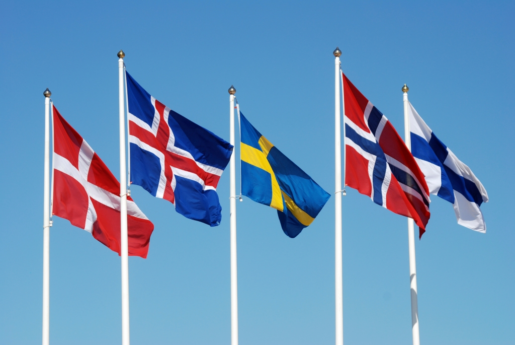 (From left to right: Denmark, Iceland, Sweden, Norway, Finland)